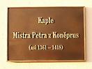 Pamětní deska Mistra Petra z Koněprus
