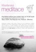 krestanské meditace plakát