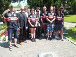 Bratr biskup s cyklisty v Kostnici 6.7.2013