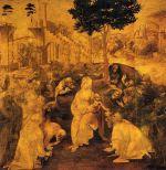 Leonardo da Vinci - Tři králové (nedokončený obraz)