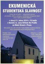 Ekumenicka studentska slavnost 2014