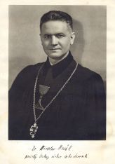 Pražský biskup a pozdější čtvrtý patriarcha CČSH Miroslav Novák zdroj APD CČSH
