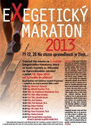 Exegeticky maraton 2013 plakat web