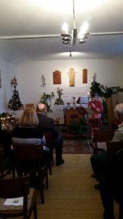 flétnové koledy při vánoční bohosužbě v Úvalech 2015