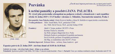 190107 Jan Palach DL pozvánka 2019